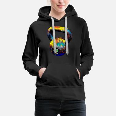 985aa1c00 Kettlebell Gym Training Crossfit Sport Fan Design Colored - Women's  Premium Hoodie