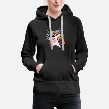 Original Gift idea with Hood Black Color Sweater Girl Unicorn Womens Sweatshirt Sweater Long Sleeve Dab Dance