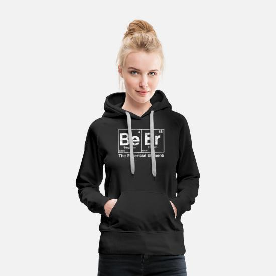 Alcohol Hoodies & Sweatshirts - Beer Elements Funny Mallorca - Women's Premium Hoodie black