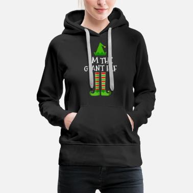 Girl Elven Elf I'm The Giant Elf Matching Family Christmas Tee - Women's Premium Hoodie