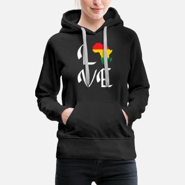 Africa Continent Ankara Sweatshirt