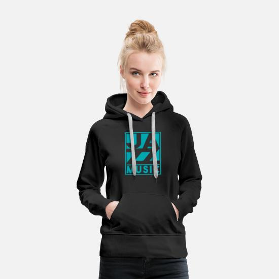 Birthday Hoodies & Sweatshirts - Jazz Music present christmas birthday - Women's Premium Hoodie black