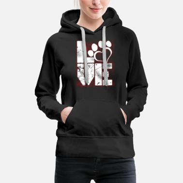 Dog DOG LOVER SHIRT - Women's Premium Hoodie