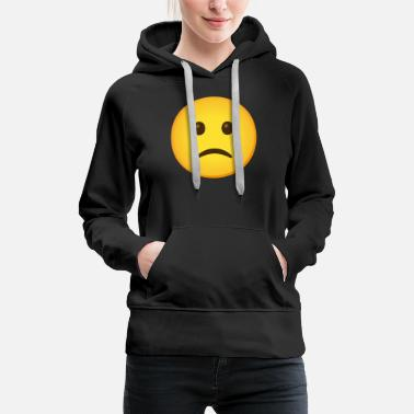 Emoticon  Slightly Frowning Face - Women's Premium Hoodie