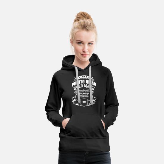Flag Hoodies & Sweatshirts - Puerto Rican Shirt - Women's Premium Hoodie black