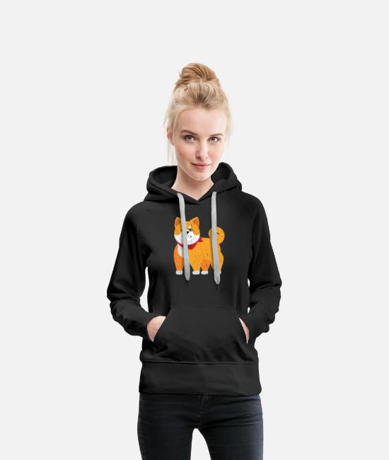 Exercise Hoodies & Sweatshirts - Shiba Inu Muscle Workout - Women's Premium Hoodie black