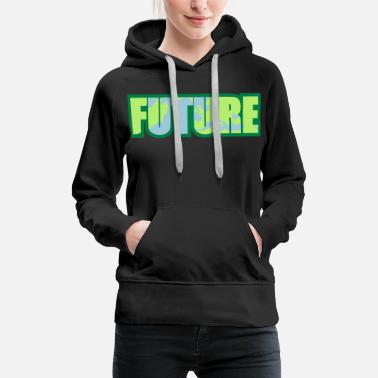 Warm world earth planet europe cool logo future protest - Women's Premium Hoodie