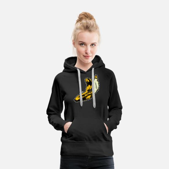 Collections Hoodies & Sweatshirts - Banana Skin - Women's Premium Hoodie black