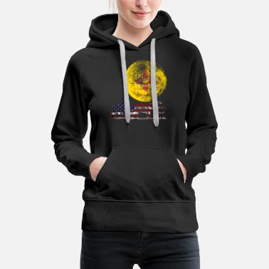 Blue Red Yellow WOLF PACK NEW MEXICO - Women's Premium Hoodie