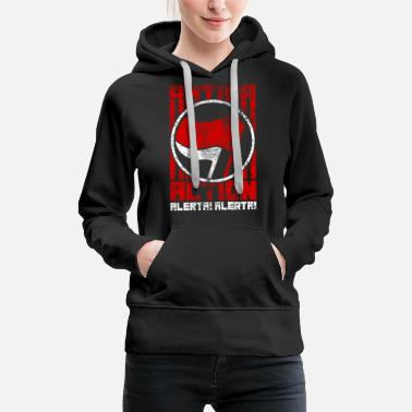 Anti Communist Antifa Action – Alerta! Alerta! (red-white) - Women's Premium Hoodie