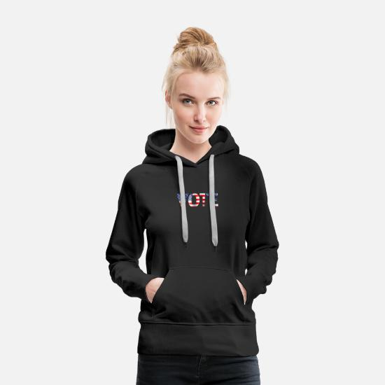 Vote Hoodies & Sweatshirts - Vote - Women's Premium Hoodie black