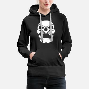 Pirate Flag Bones Skull - Women's Premium Hoodie