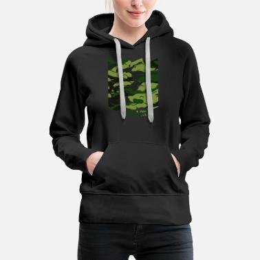 Bestseller Pattern with waves - Dream on camouflage pattern - Women's Premium Hoodie