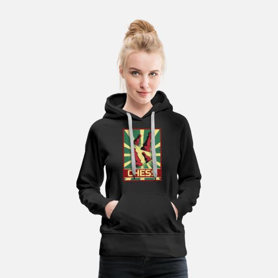 Checkmate Hoodies & Sweatshirts - Chess Propaganda - Women's Premium Hoodie black
