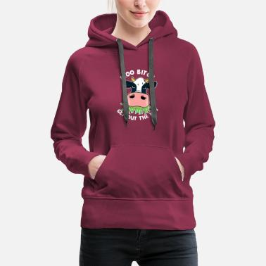 Bovine Moo Get Out Of The Hay - Women's Premium Hoodie