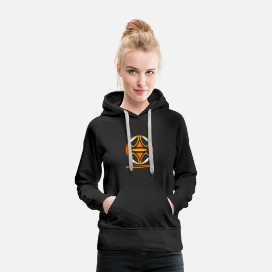 Symbol  Hoodies & Sweatshirts - wings sphere symbol - Women's Premium Hoodie black