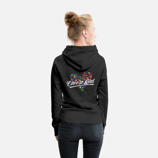 Autism Awareness Hoodies & Sweatshirts - Autism Choose Kind Kindness Womens - Women's Premium Hoodie black