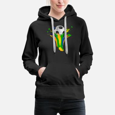 Football soccer ball & colors - Women's Premium Hoodie