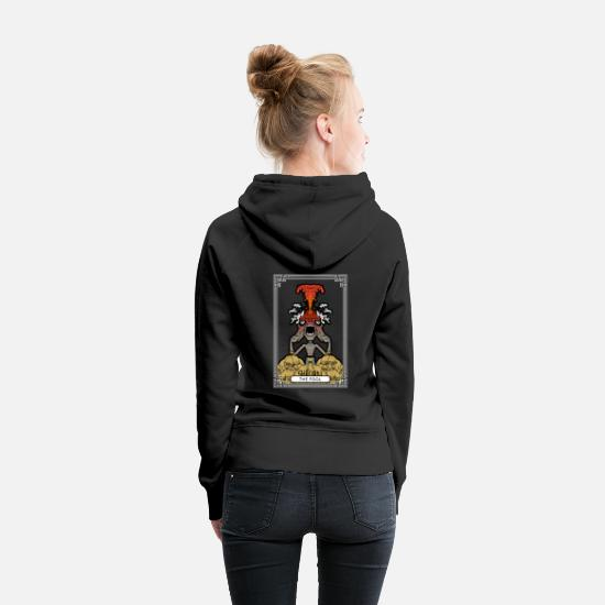 Art Hoodies & Sweatshirts - THE FOOL - Women's Premium Hoodie black