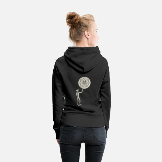 Geometry Hoodies & Sweatshirts - Alien with Sacred Globe - Women's Premium Hoodie black