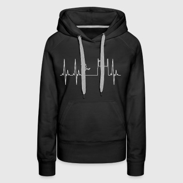 Rugby Heartbeat - Women's Premium Hoodie