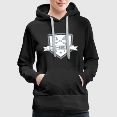 shield coat of arms banner cross whisk turner 2 em - Women's Premium Hoodie