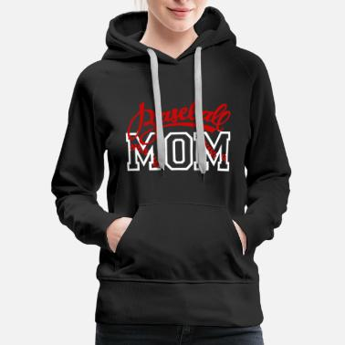 Baseball Mom Baseball mom - lovely baseball mom - Women's Premium Hoodie