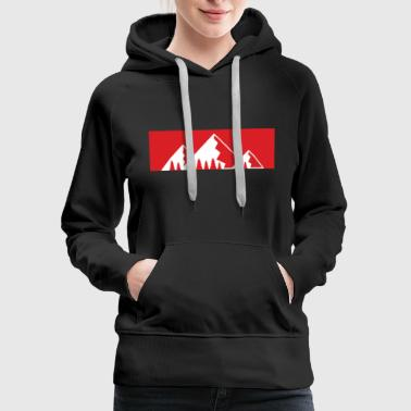 Carinthia Red Bar Mountains with firs - Women's Premium Hoodie