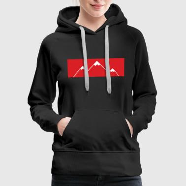Carinthia Red Bar Mountain - Women's Premium Hoodie
