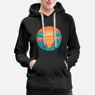 Honolulu Sunset Lagoon - Women's Premium Hoodie