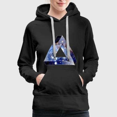 Penrose Triangle Hipster - Women's Premium Hoodie