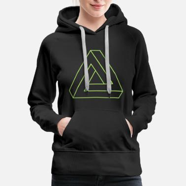 3d Impossible Triangle 3D - Women's Premium Hoodie
