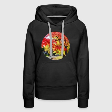 Walking The Dog In Autumn - Women's Premium Hoodie