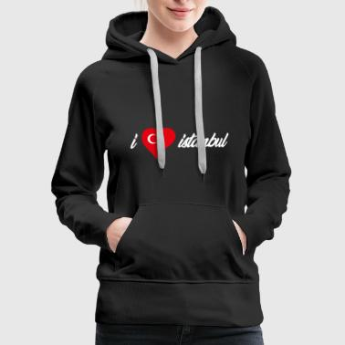 I love turkey heart design! Gift idea for traveler - Women's Premium Hoodie