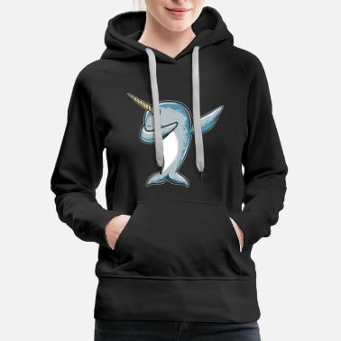 Narwhal Funny Narwhal Dab - Dabbing Narwhal - Women's Premium Hoodie
