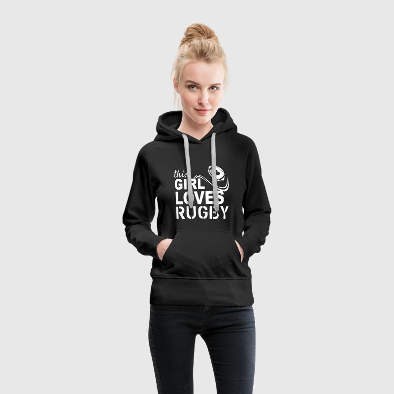 This Girl Loves Rugby - Women's Premium Hoodie