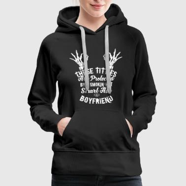 Smart Ass smart ass boyfriend - Women's Premium Hoodie