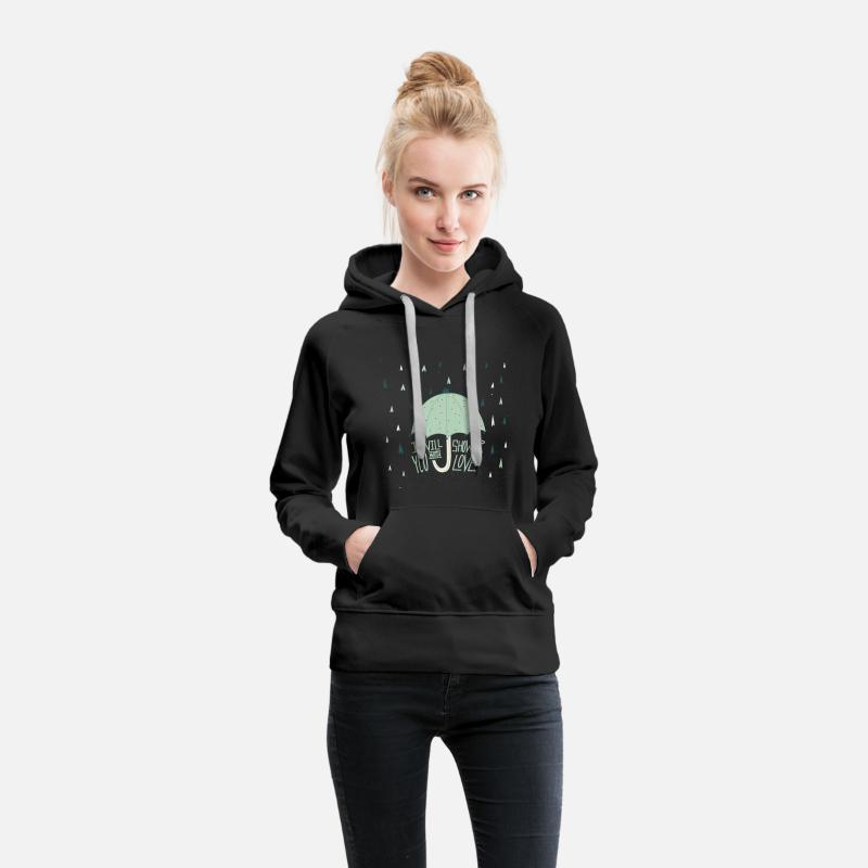 Day Hoodies & Sweatshirts - Shower with love - Women's Premium Hoodie black