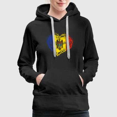 HOME ROOTS COUNTRY GIFT LOVE Moldova - Women's Premium Hoodie