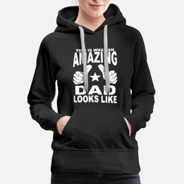 Mc Amazing Dad Looks Like Fathers day shirts - Women's Premium Hoodie