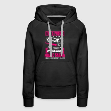 Proud Figure Skater Mom - Women's Premium Hoodie