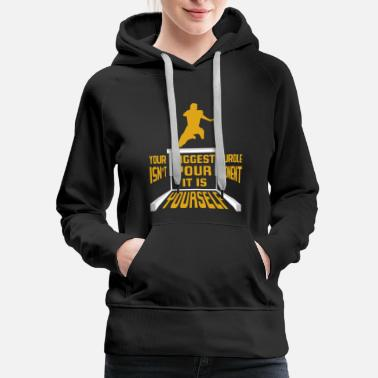 Hurdle hurdle race game obstacle gift idea - Women's Premium Hoodie