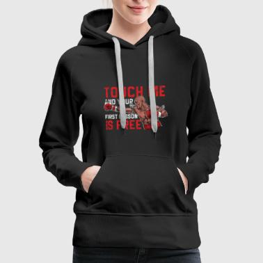 Gluten Free Muay Thai - Touch me and your first lesson is free - Women's Premium Hoodie