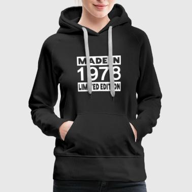 1978 40th vintage RETRO birthday - Women's Premium Hoodie