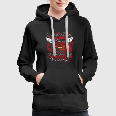 Country Shirt-Kurdistan blood runs in my veins - Women's Premium Hoodie