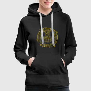 Positively Electric Smiley Face - Women's Premium Hoodie