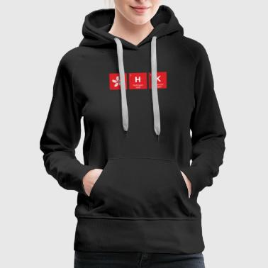 Hong Kong Flag HK Chemical Element Periodic Table - Women's Premium Hoodie