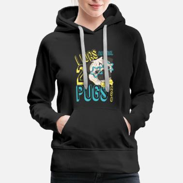 Awesome I Was Normal 2 Pugs Ago T Shirt - Women's Premium Hoodie