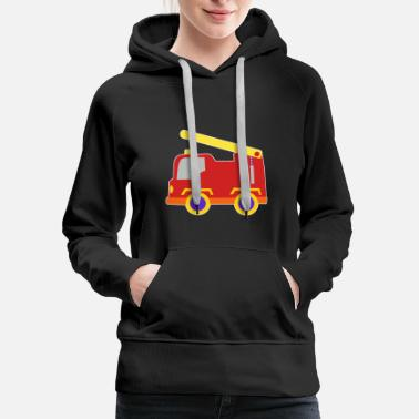 Toy kids toy fire truck red cute gift idea - Women's Premium Hoodie
