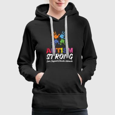 July Love, Support, Educate, Autism Strong. - Women's Premium Hoodie